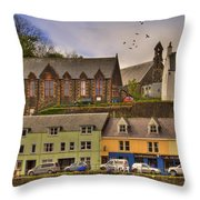 Portree. Isle Of Skye. Scotland Throw Pillow