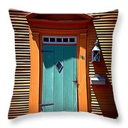 Portsmouth Door 8 Throw Pillow