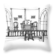 Portsmouth Island Chapel 1970s Throw Pillow
