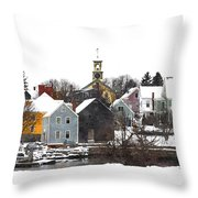 Portsmouth Waterfront Pwwc Throw Pillow