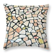 Portuguese Pavement Throw Pillow