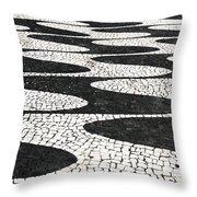 Portuguese Pavement Throw Pillow