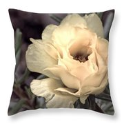 Portulaca Flower Throw Pillow