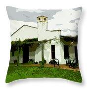 Posada De Laguna Lodge Throw Pillow