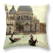 Postcard From Venice Throw Pillow