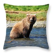 Posed Perfection Throw Pillow