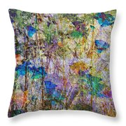 Posies In The Grass Throw Pillow
