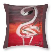 Posing Flamingo Throw Pillow