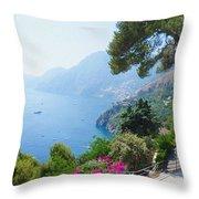 Positano Italy Amalfi Coast Delight Throw Pillow