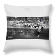 Positive Meditation On The River Throw Pillow