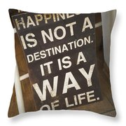 Positive Message In Cafe Tel Aviv Israel Throw Pillow