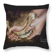 Possessing The Land Throw Pillow