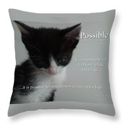 Possible Throw Pillow
