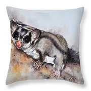 Possum Cute Sugar Glider Throw Pillow