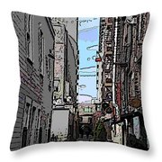 Post Alley 6 Throw Pillow