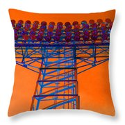 Post Apocalyptic Light Tower Throw Pillow