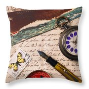 Post Card And Letter Throw Pillow