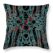 Post-historical Rock Art Throw Pillow