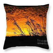 Post Hurricane Rita Clouds At Dockside In Beaumont Texas Usa Throw Pillow