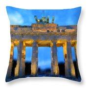 Post-it Art Berlin Brandenburg Gate Throw Pillow