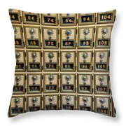 Post Office Combination Lock Boxes Throw Pillow