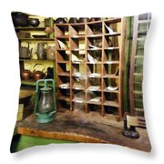 Post Office In General Store Throw Pillow