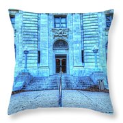 Post Office West Avenue Throw Pillow