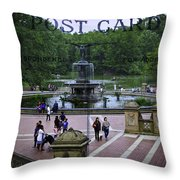 Postcard From Central Park Throw Pillow