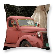 Postcard From Yesterday Throw Pillow