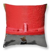 Postcards From Otis - The Hydrant Throw Pillow by Mike McGlothlen