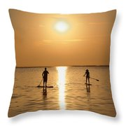 Postcards From Paradise Throw Pillow