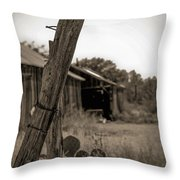 Posted In Time Throw Pillow by Amber Kresge