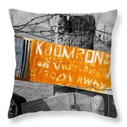 Posted Information 2 Throw Pillow