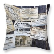 Posted To My Wall Throw Pillow