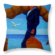 Posted To Sea Throw Pillow