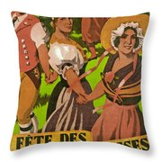 Poster Advertising F?te Des Costumes Throw Pillow