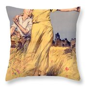 Poster Advertising The National Loan Throw Pillow by Rene Lelong