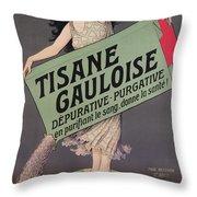 Poster Advertising Tisane Gauloise Throw Pillow