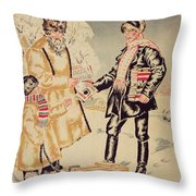 Poster Depicting The Alliance Between The City And The Countryside, 1925 Colour Litho Throw Pillow