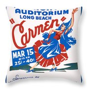 Poster For Production Of Carmen Throw Pillow