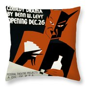 Poster For The Play The Devil Passes Throw Pillow