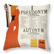 Poster For 'the Pseudonym And Autonym Libraries' Throw Pillow