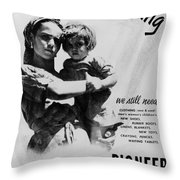 Poster Israeli Settlement Throw Pillow
