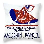 Poster Modern Dance Festival Throw Pillow