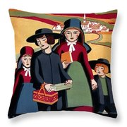 Poster Pennsylvania, C1938 Throw Pillow