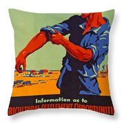 Poster Promoting Emigration To Canada Throw Pillow