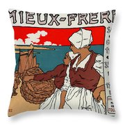Poster Sardines, 1899 Throw Pillow