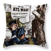 Poster Women Recruit Throw Pillow