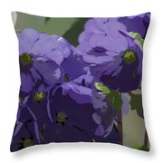 Posterised Flowers Throw Pillow
