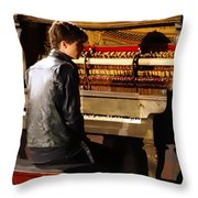 Posterized Evan Konrad Of Bed Of Stars Throw Pillow